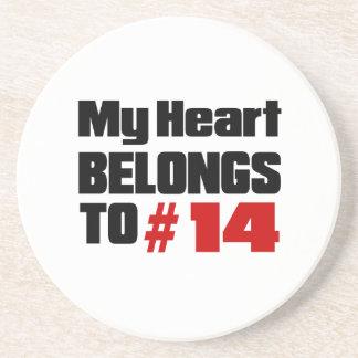 Meu coração pertence # a 14 porta copos de arenito