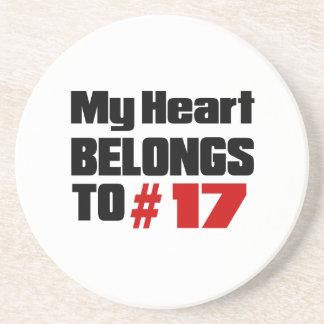 Meu coração pertence # a 17 porta copos de arenito
