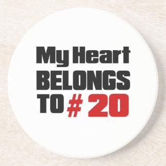 Meu coração pertence # a 20 porta copos de arenito