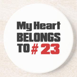 Meu coração pertence # a 23 porta copos de arenito