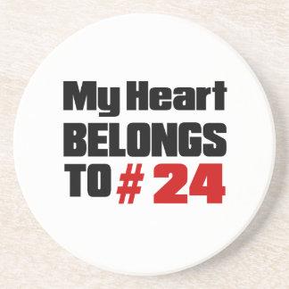 Meu coração pertence # a 24 porta copos de arenito