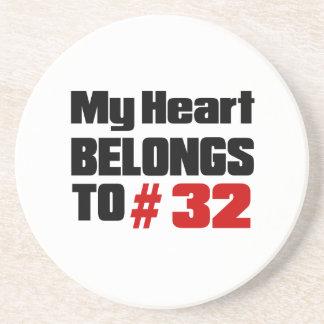 Meu coração pertence # a 32 porta copos de arenito