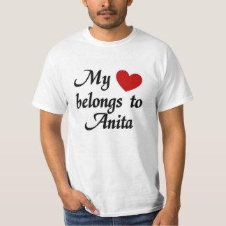 Meu coração pertence a Anita Tshirt