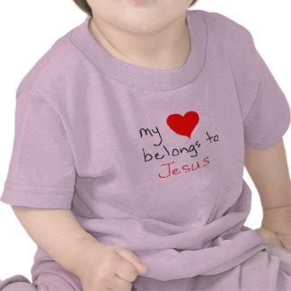 meu coração pertence a jesus camiseta