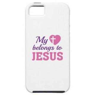 Meu coração pertence a Jesus Capa Tough Para iPhone 5