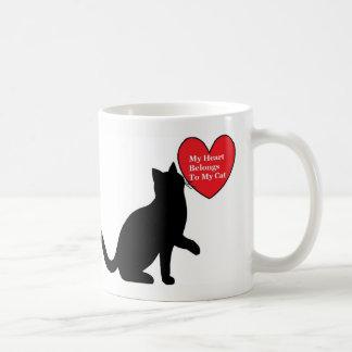 Meu coração pertence a minha caneca do gato