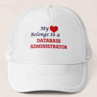 Meu coração pertence a um administrador de base de boné
