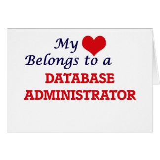 Meu coração pertence a um administrador de base de cartão comemorativo