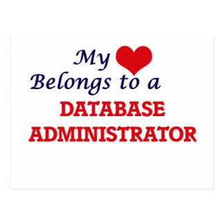 Meu coração pertence a um administrador de base de cartão postal
