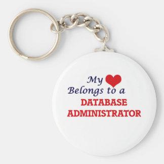 Meu coração pertence a um administrador de base de chaveiro
