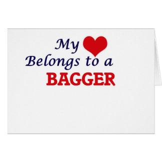 Meu coração pertence a um Bagger Cartão Comemorativo