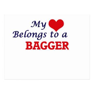 Meu coração pertence a um Bagger Cartão Postal