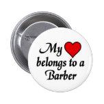 Meu coração pertence a um barbeiro botons