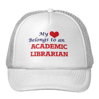 Meu coração pertence a um bibliotecário académico boné