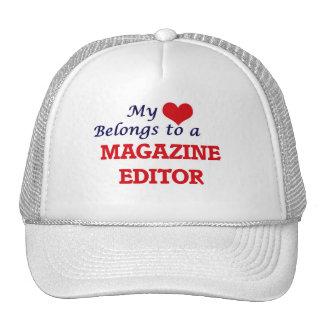 Meu coração pertence a um editor de revistas boné