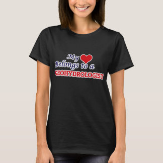 Meu coração pertence a um Geohydrologist Camiseta