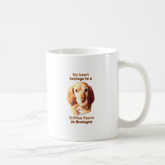 Meu coração pertence a um Griffon Fauve de Caneca De Café