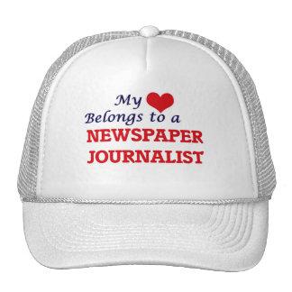 Meu coração pertence a um journalista do jornal boné