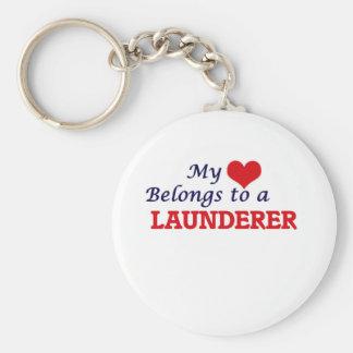 Meu coração pertence a um Launderer Chaveiro