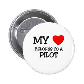 Meu coração pertence a um PILOTO Botons