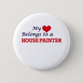 Meu coração pertence a um pintor de casa bóton redondo 5.08cm