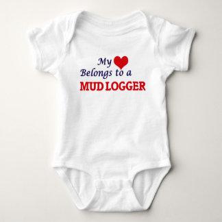 Meu coração pertence a um registador da lama body para bebê