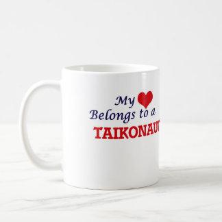 Meu coração pertence a um Taikonaut Caneca De Café