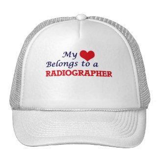 Meu coração pertence a um técnico de radiologia boné