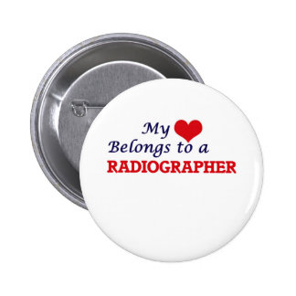 Meu coração pertence a um técnico de radiologia bóton redondo 5.08cm