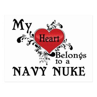Meu coração pertence a umas armas nucleares do cartão postal