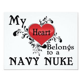 Meu coração pertence a umas armas nucleares do convites