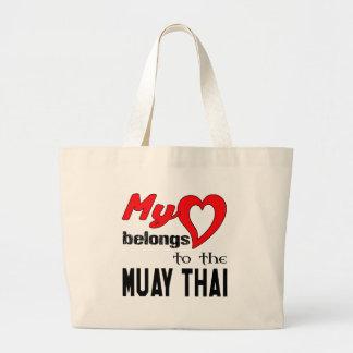 Meu coração pertence ao tailandês de Muay Sacola Tote Jumbo