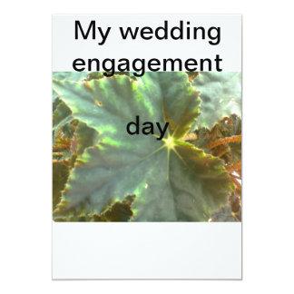 Meu dia do noivado do casamento convite 12.7 x 17.78cm