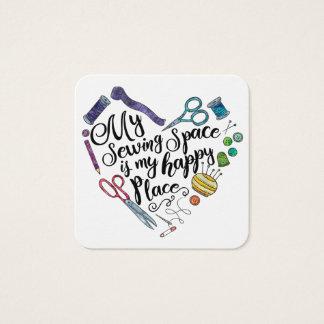 Meu espaço Sewing é meu cartão feliz do lugar