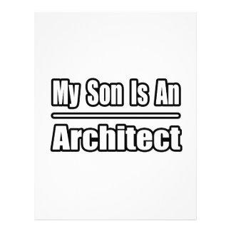 Meu filho é um arquiteto panfletos personalizado
