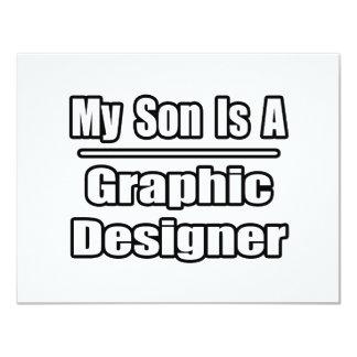 Meu filho é um designer gráfico convite 10.79 x 13.97cm