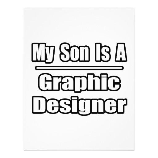 Meu filho é um designer gráfico modelo de panfletos