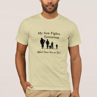 Meu filho luta o terrorismo camiseta