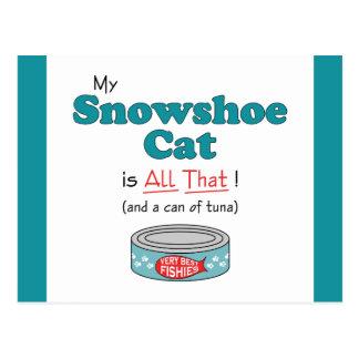 Meu gato do sapato de neve é todo o isso Gatinho Cartão Postal