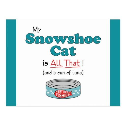 Meu gato do sapato de neve é todo o isso! Gatinho  Cartão Postal