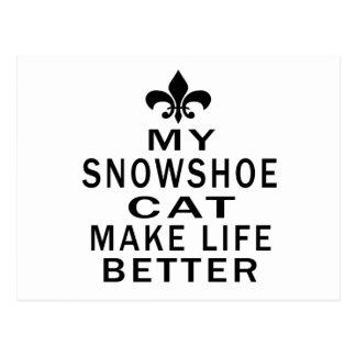 Meu gato do sapato de neve faz a vida melhor cartão postal