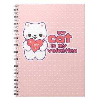 Meu gato é meus namorados cadernos