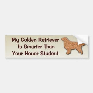 Meu golden retriever é mais esperto do que adesivo para carro