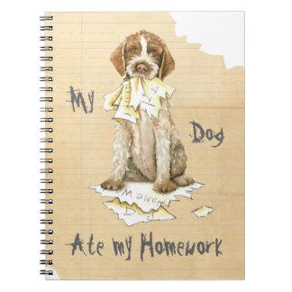 Meu Griffon comeu meus trabalhos de casa Caderno Espiral