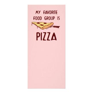 Meu grupo de comida favorito é pizza 10.16 x 22.86cm panfleto