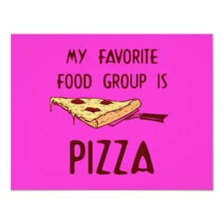 Meu grupo de comida favorito é pizza convite personalizado