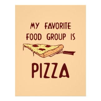 Meu grupo de comida favorito é pizza panfletos coloridos