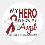 Meu herói é meu mieloma múltiplo do anjo adesivos