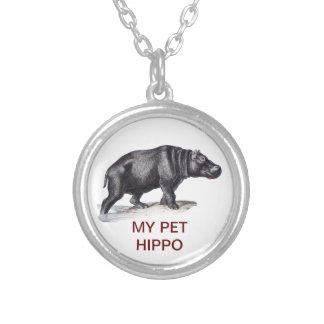 MEU HIPOPÓTAMO DO ANIMAL DE ESTIMAÇÃO COLARES PERSONALIZADOS