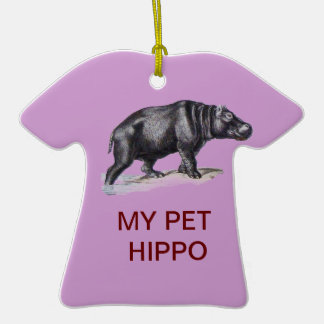 MEU HIPOPÓTAMO DO ANIMAL DE ESTIMAÇÃO ORNAMENTO DE CERÂMICA CAMISETA
